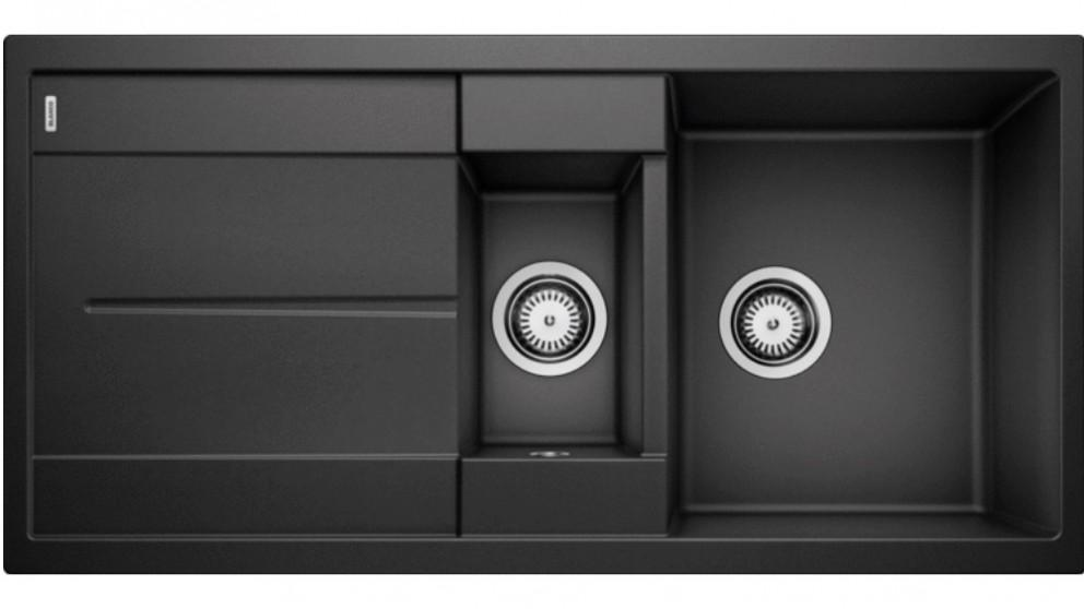 Blanco Metra 6S 1 & 1/4 Bowl Inset Sink with Drainer- Anthracite
