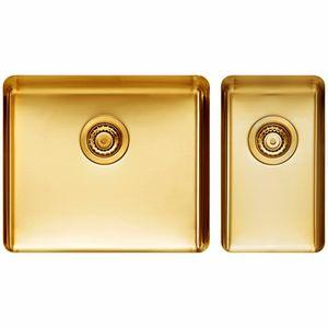 Titan Large and Small Bowl Sink Royal Gold TSRY5228