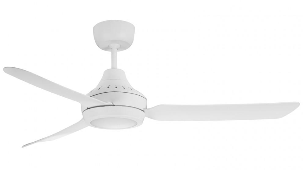 Ventair Stanza 140cm 3 Blade Ceiling Fan with LED Light – White