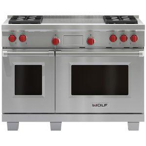 WOLF 122cm Freestanding Dual Fuel Oven/Stove with French Top ICBDF484FNG