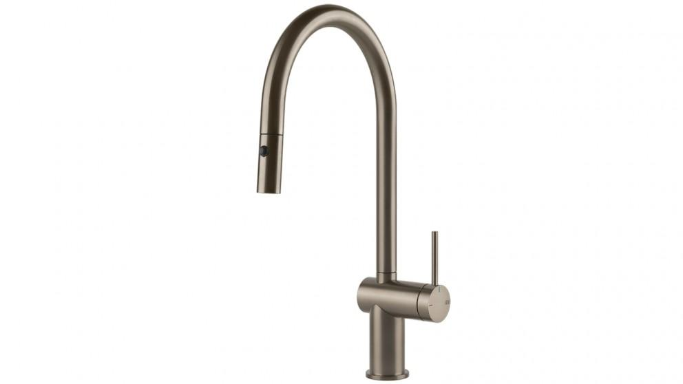 Gessi Inedito Pull Out Dual Function Kitchen Mixer Brushed Nickel