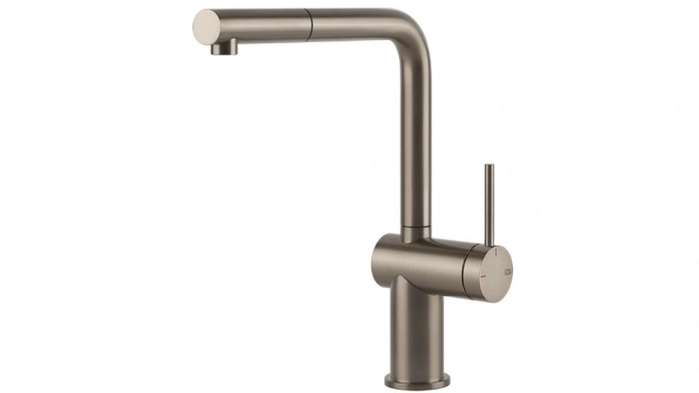 Gessi Inedito Pull Out Kitchen Mixer – Brushed Nickel