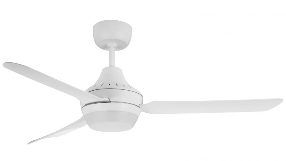 Ventair Stanza 140cm 3 Blade Ceiling Fan with Arylic Light (2x B22 Lamp Holders) – White