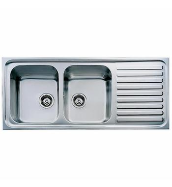 Teka Double Bowl Right Hand Drainer Inset Sink TCLA20BRHDPK