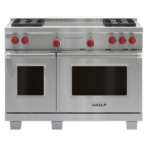 WOLF 122cm Freestanding Dual Fuel Oven/Stove with French Top ICBDF484FLPG
