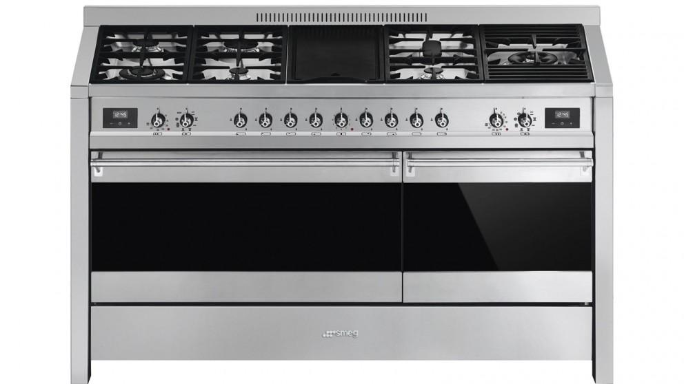 Smeg 1500mm Dual-Fuel Freestanding Cooker with Dual Oven – Stainless Steel
