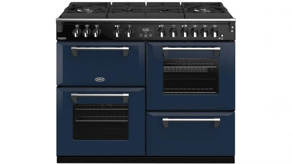 Belling 1100mm Colour Boutique Richmond Deluxe Dual Fuel Gas-Through-Glass Range Cooker – Midnight Blue