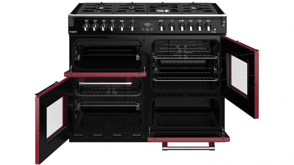 Belling 1100mm Colour Boutique Richmond Deluxe Dual Fuel Range Cooker- Chili Red