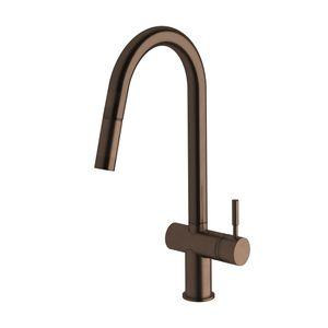 Sussex Taps Rustic Bronze Voda Pull Out Sink Mixer Tap VSMPO-21