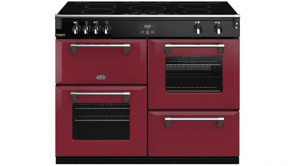 Belling 1100mm Colour Boutique Richmond Deluxe Induction Range Cooker – Chili Red