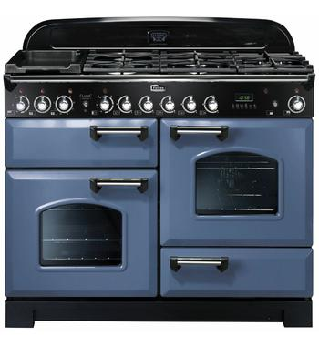 Falcon 110cm Classic Deluxe Freestanding Dual Fuel Oven/Stove CDL110DFSBCH