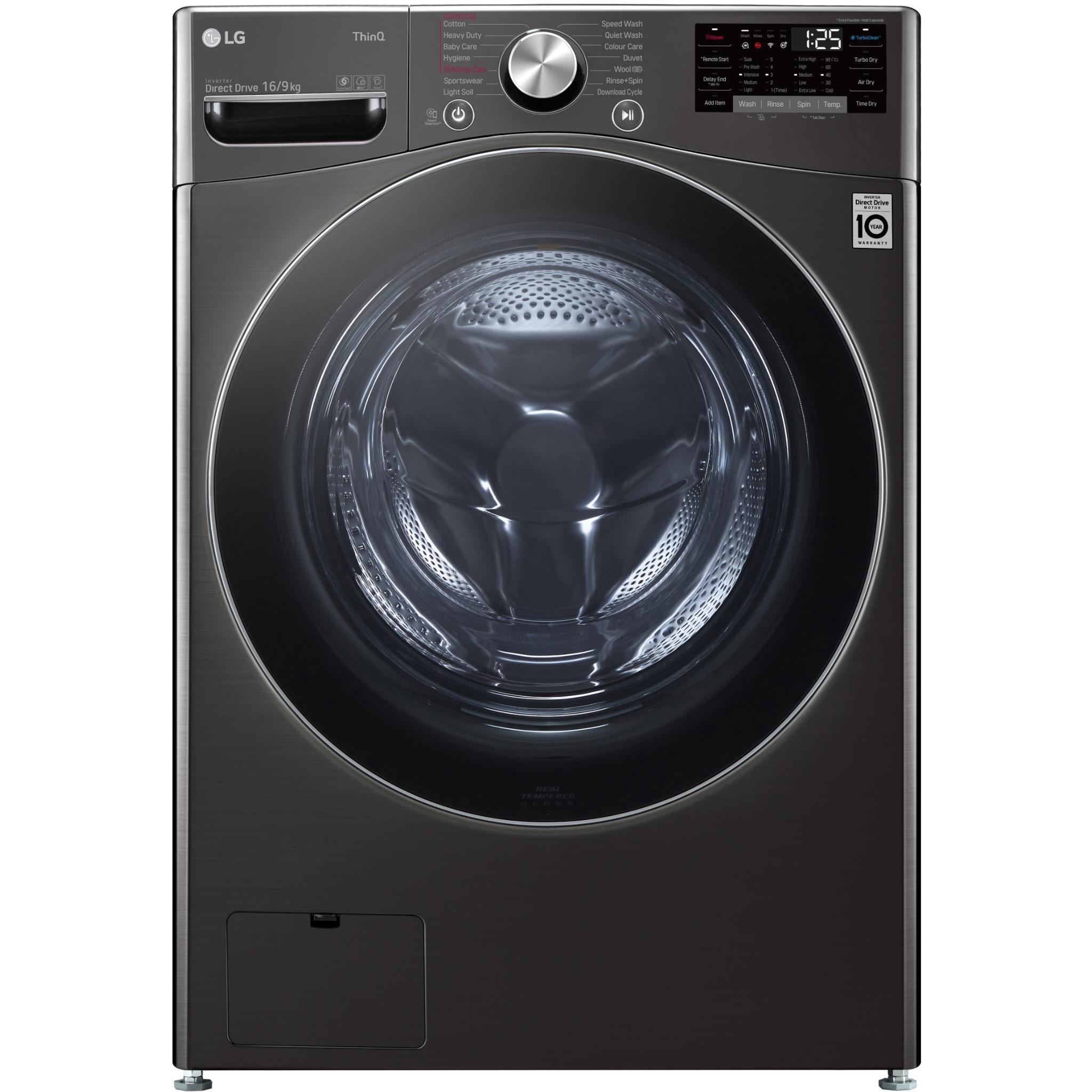 LG WXLC-1116B 16/9kg Front Load Washer & Dryer Combo