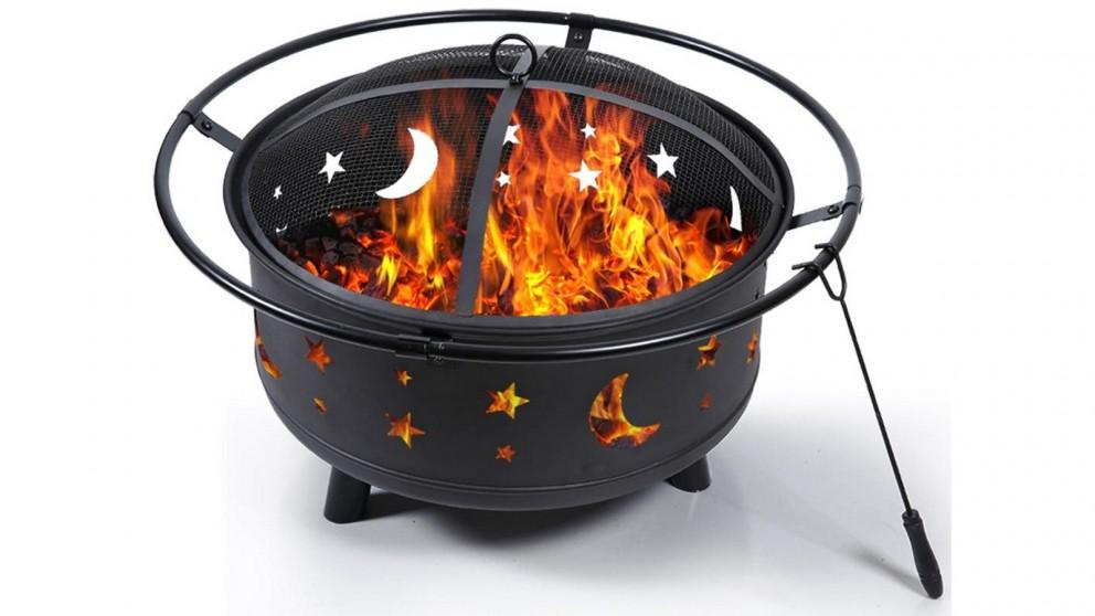 Outdoor Fire BBQ Wood Grill