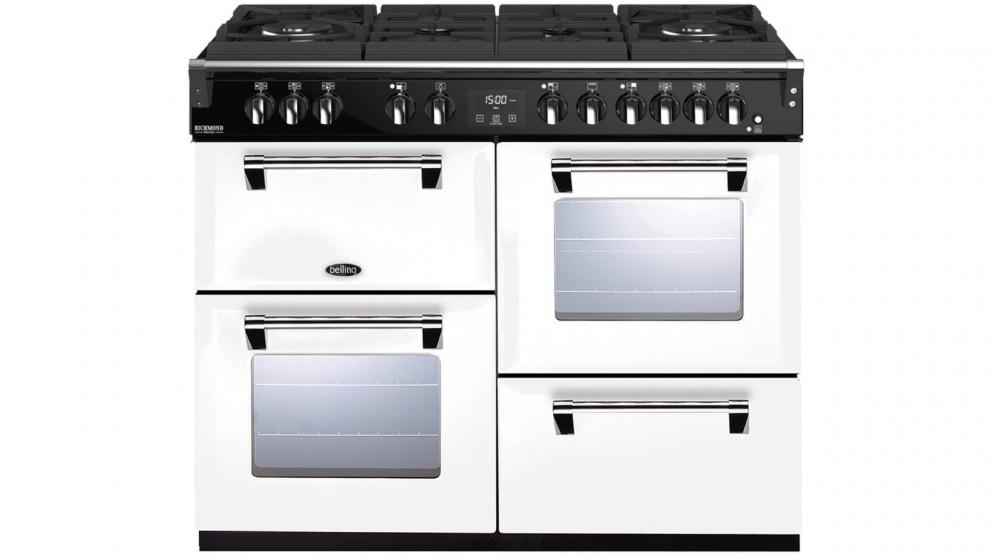 Belling 1100mm Richmond Deluxe Dual Fuel Gas-Through-Glass Range Cooker – White