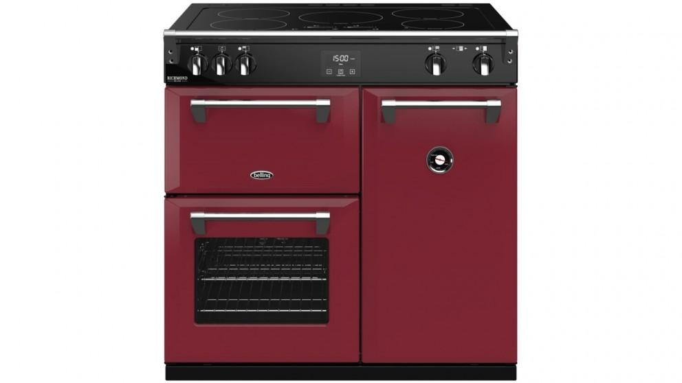Belling 900mm Colour Boutique Richmond Deluxe Induction Range Cooker – Chili Red