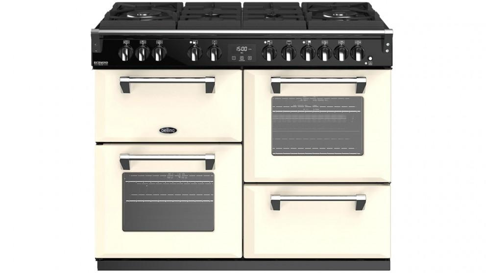 Belling 1100mm Richmond Deluxe Dual Fuel Gas-Through-Glass Range Cooker – Cream