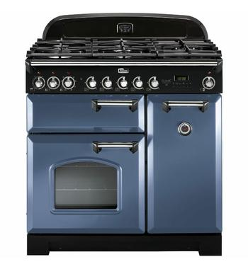 Falcon 90cm Classic Deluxe Freestanding Dual Fuel Oven/Stove CDL90DFSBCH