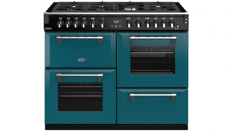 Belling 1100mm Colour Boutique Richmond Deluxe Dual Fuel Range Cooker – King Fisher Teal