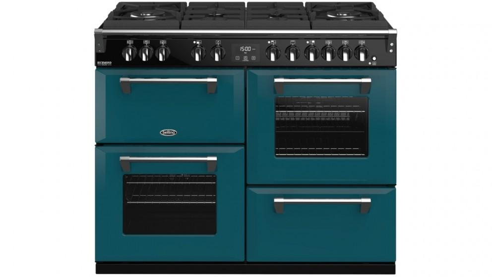 Belling 1100mm Colour Boutique Richmond Deluxe Dual Fuel Gas-Through-Glass Range Cooker – King Fisher Teal