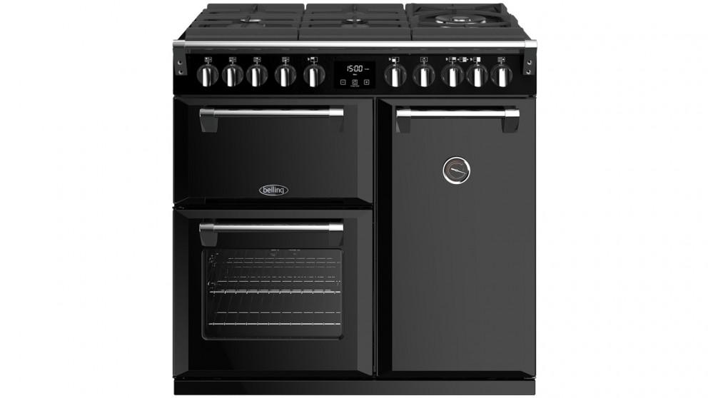 Belling 900mm Richmond Deluxe Dual Fuel Gas-Through-Glass Range Cooker – Black