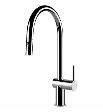 Gessi Inedito Pull Out Dual Function Spray Kitchen Mixer Tap Chrome 60413