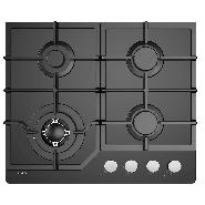 Inalto – ICGG604W – 60cm Gas on Glass Cooktop with Wok Burner