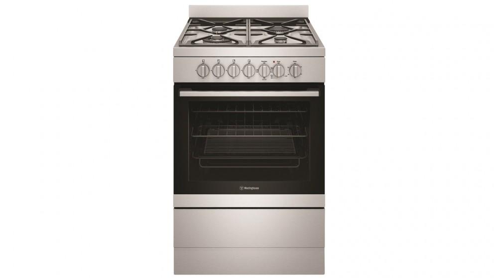 Westinghouse 600mm Dual Fuel Freestanding Cooker with 4 Burner Gas Cooktop – Stainless Steel