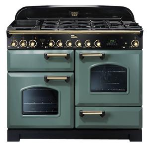 Falcon 110cm Classic Deluxe Freestanding Dual Fuel Oven/Stove CDL110DFMGBR