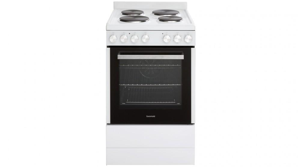 Euromaid 540mm 5-Function Electric Freestanding Cooker – White