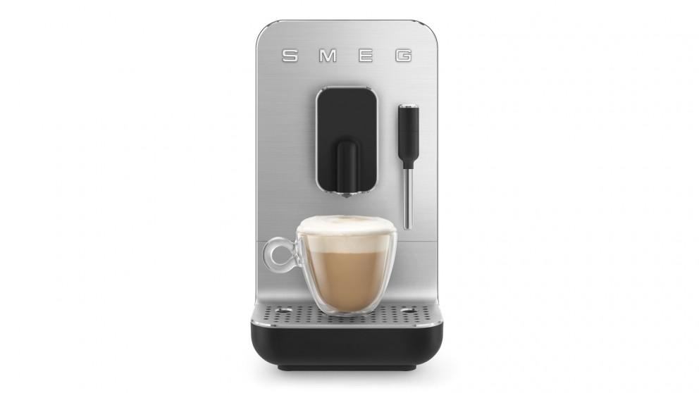 Smeg Bean to Cup Automatic Coffee Machine with Milk Frother – Black Matte