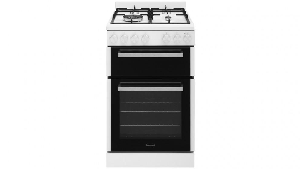 Euromaid 540mm Front Control Gas Freestanding Cooker with Grill – White