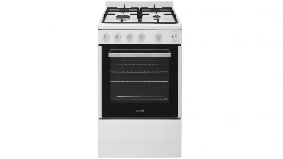 Euromaid 540mm Front Control Gas Freestanding Cooker – White