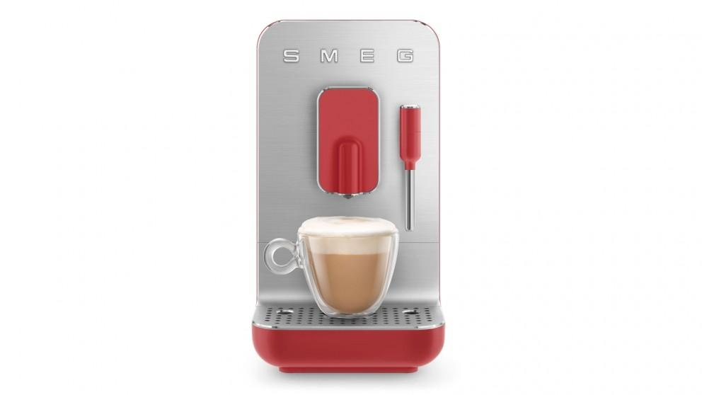 Smeg Bean to Cup Automatic Coffee Machine with Milk Frother – Red Matte