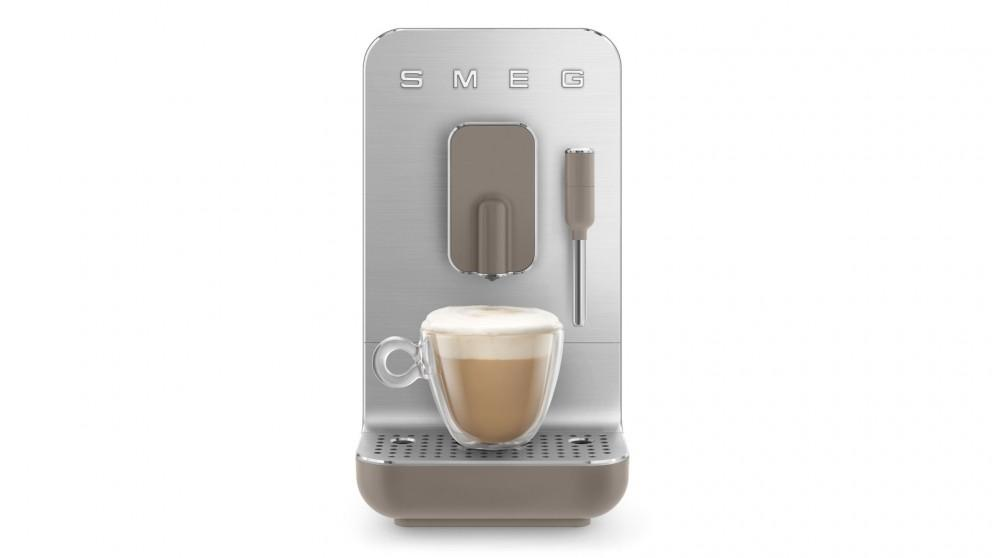 Smeg Bean to Cup Automatic Coffee Machine with Milk Frother – Taupe Matte